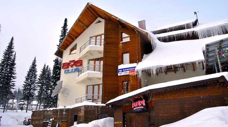Айс Клуб-гостиница в Шергеш