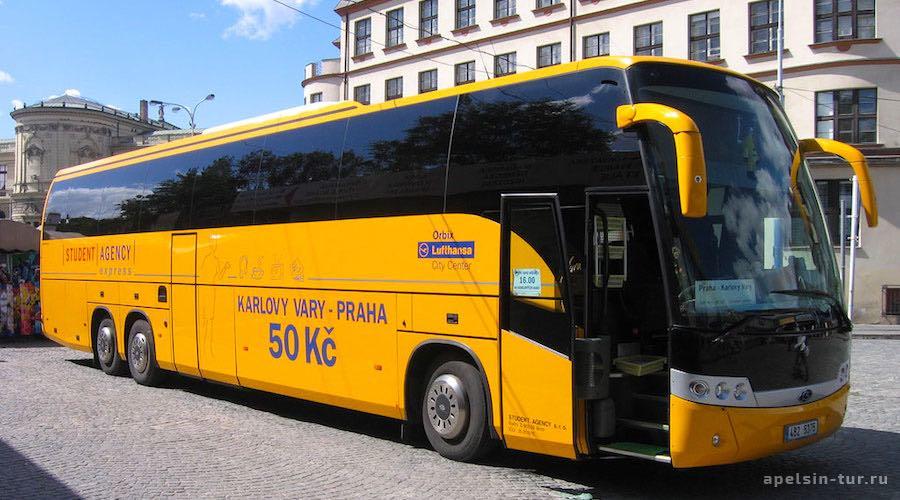 Автобус из Праги до Карловых Вар